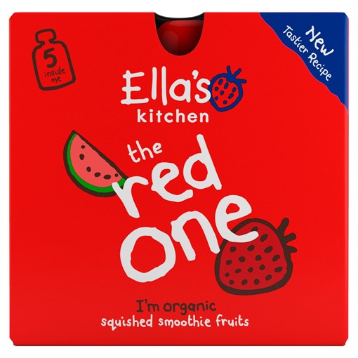 Picture of Ella's Kitchen Organic The Red One Smoothie Multipack Pouch 6+ Months 5 x 90g