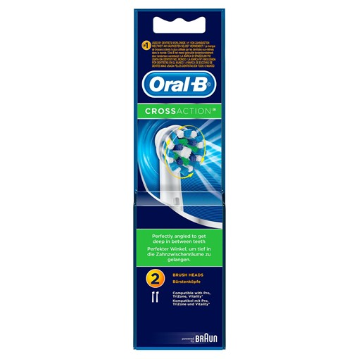 Picture of Oral-B CrossAction Toothbrush Head, Pack of 2 Counts