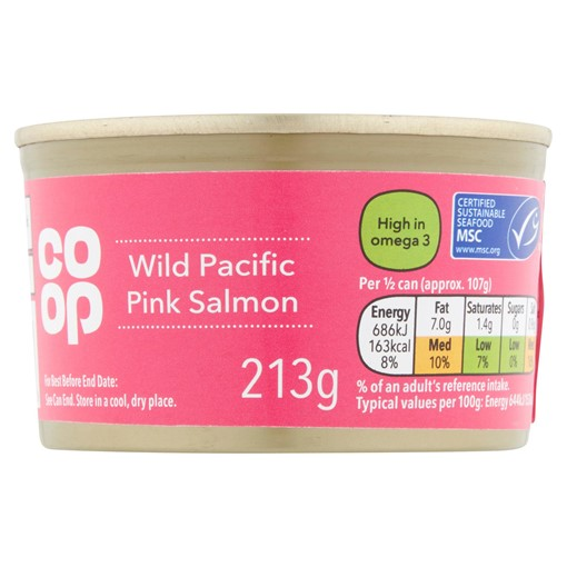 Picture of Co-op Wild Pacific Pink Salmon 213g