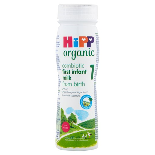 Picture of HiPP Organic 1 First Infant Baby Milk Ready to Feed Bottle from Birth 200ml