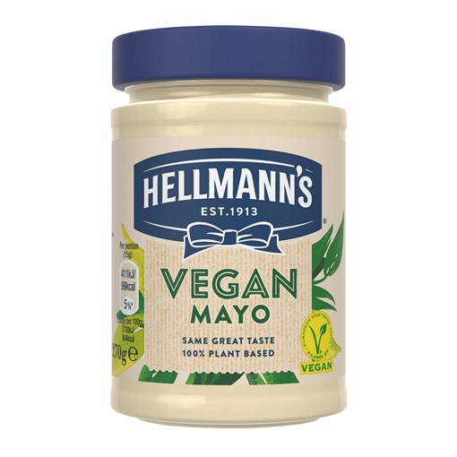 Picture of Hellmann's Vegan No Artificial Flavours or Preservatives Mayonnaise For a Tasty Vegan Sandwich 270g