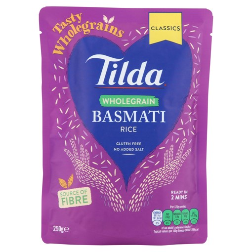 Picture of Tilda Wholegrain Basmati Rice 250g