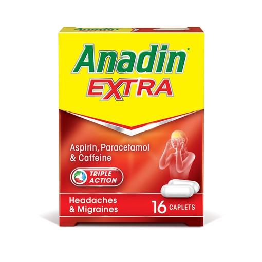 Picture of Anadin Extra Aspirin, Paracetamol & Caffeine 16 Caplets