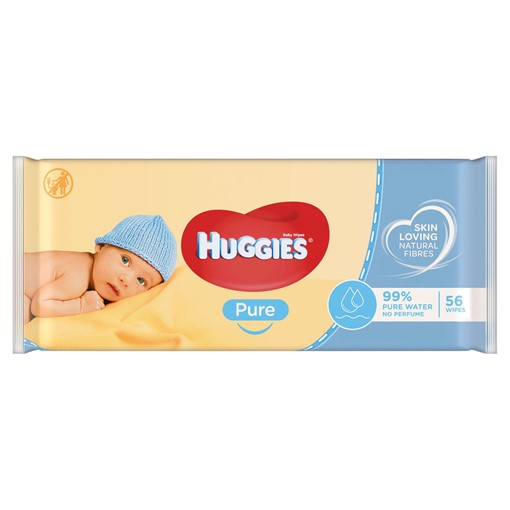 Picture of Huggies® Pure Baby Wipes - 1 Pack (56 Wipes/Pack)