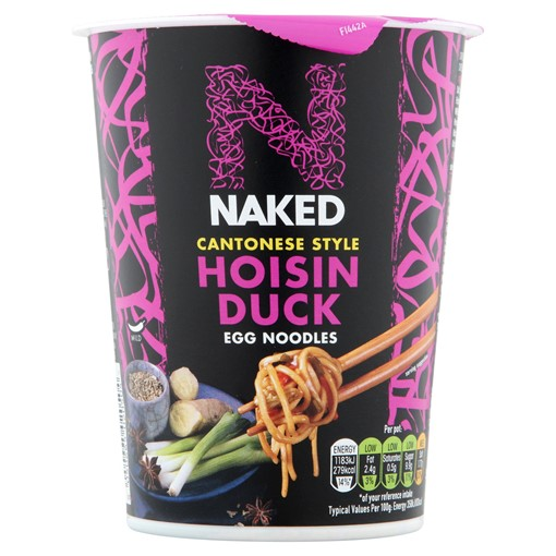 Picture of Naked Noodle Egg Noodles Cantonese Hoisin Duck 78g