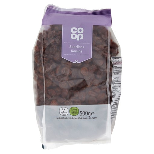 Picture of Co-op Seedless Raisins 500g