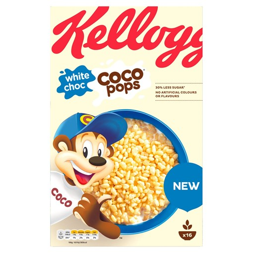 Picture of Kellogg's White Choc Coco Pops Cereal 480g