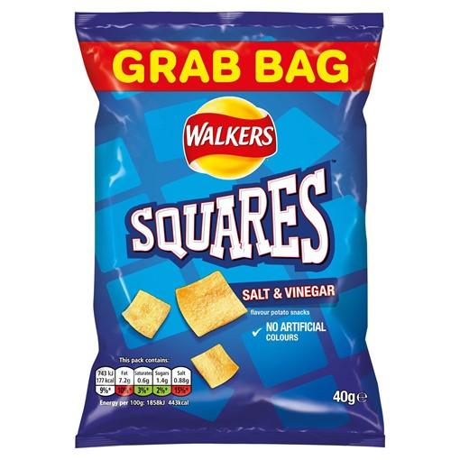 Picture of Walkers Squares Salt & Vinegar Snacks 40g