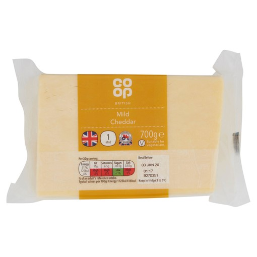 Picture of Co-op British Mild Cheddar 700g