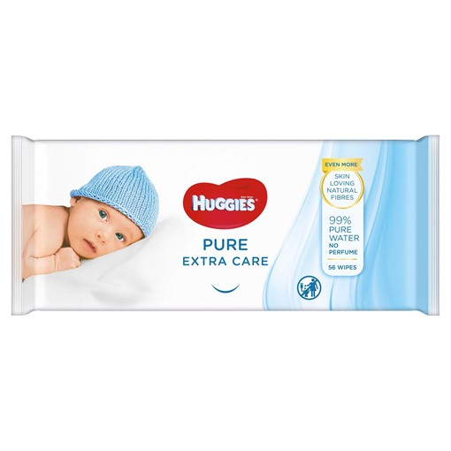 Picture of Huggies® Pure 'Extra Care' Baby Wipes - 1 Pack (56 Wipes/Pack)
