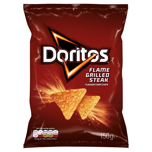 Picture of Doritos Flame Grilled Steak Tortilla Chips 150g