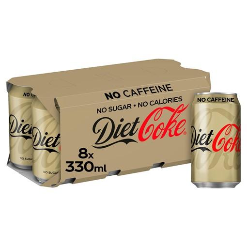 Picture of Diet Coke Caffeine Free 8 x 330ml
