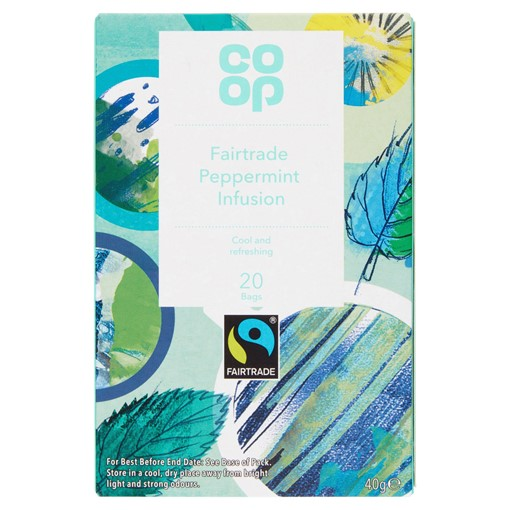 Picture of Co-op Fairtrade Peppermint Infusion 20 Tea Bags 40g