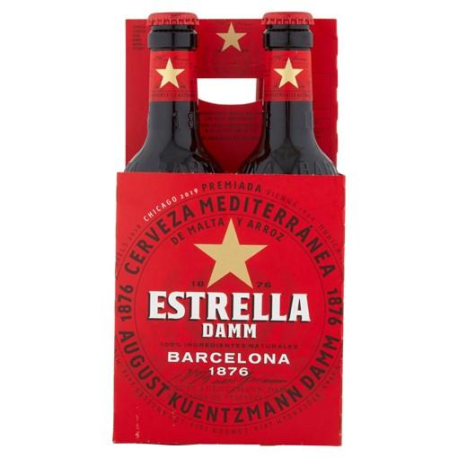 Picture of Estrella Damm Premium Lager Beer 4 x 330ml