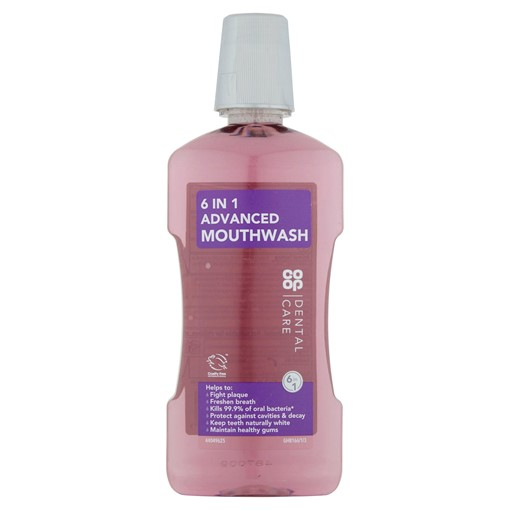 Picture of Co-op Dental Care 6 in 1 Advanced Mouthwash 500ml