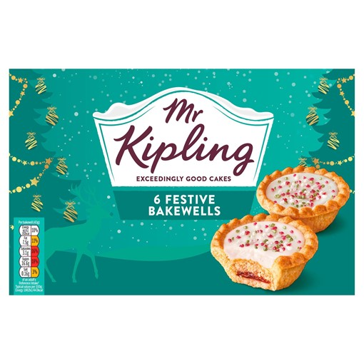 Picture of Mr Kipling 6 Festive Bakewells
