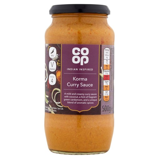 Picture of Co Op Indian Korma Curry Sauce 500G
