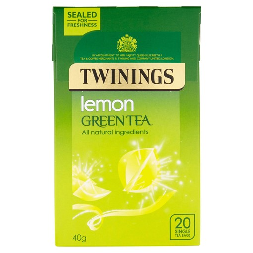 Picture of Twinings Lemon Green Tea 20 Single Tea Bags 40g