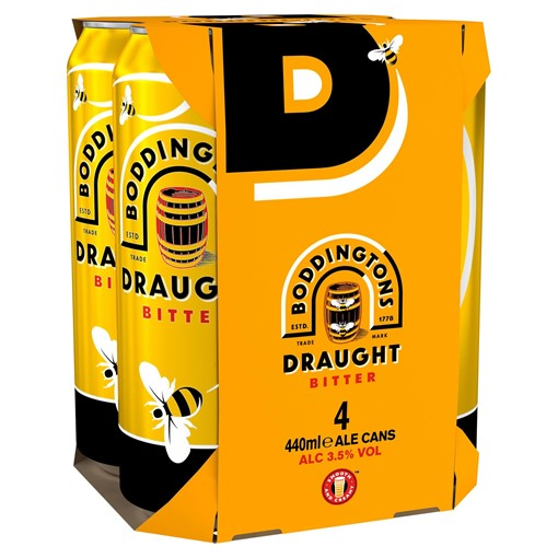 Picture of Boddingtons Draught Bitter Beer Cans 4 x 440ml