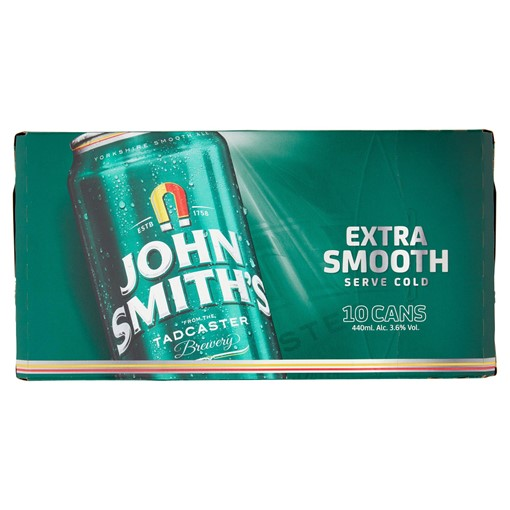 Picture of John Smith's Extra Smooth Ale 10 x 440ml Cans
