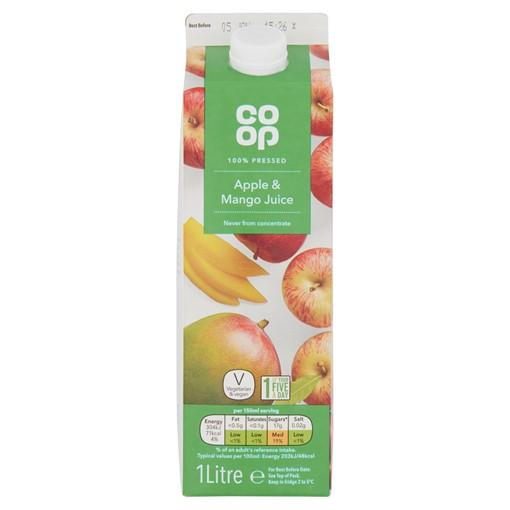 Picture of Co Op 100% Pressed Apple & Mango Juice 1 Litre