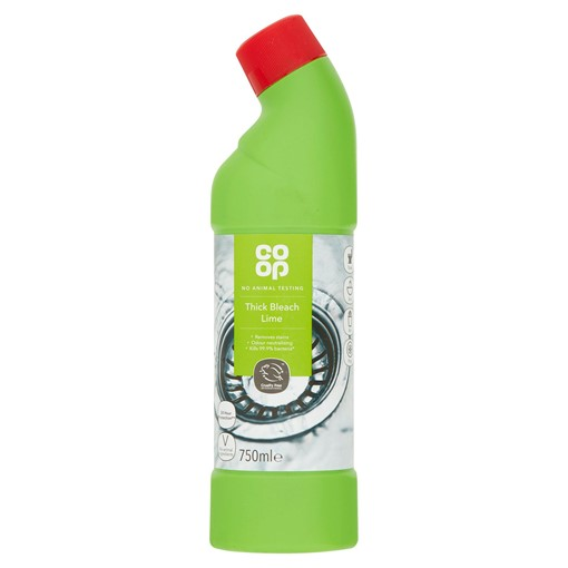 Picture of Co Op Thick Bleach Lime 750ml