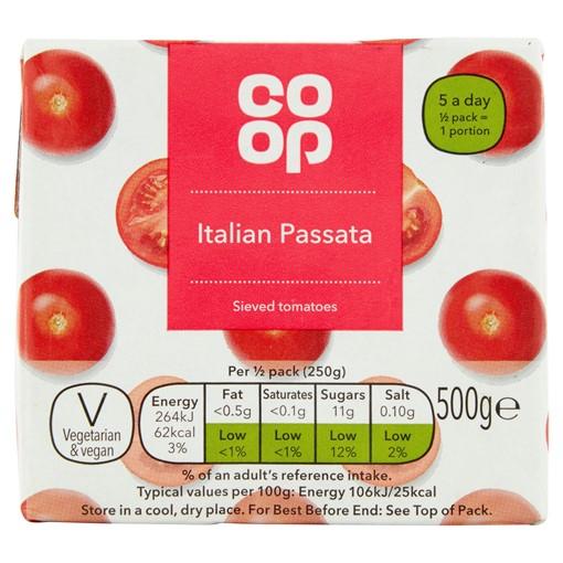 Picture of Co-op Italian Passata 500g