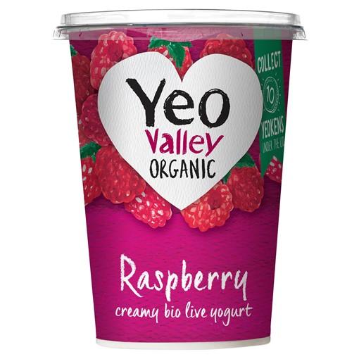 Picture of Yeo Valley Organic Raspberry Creamy Bio Live Bio Live Yogurt 450g