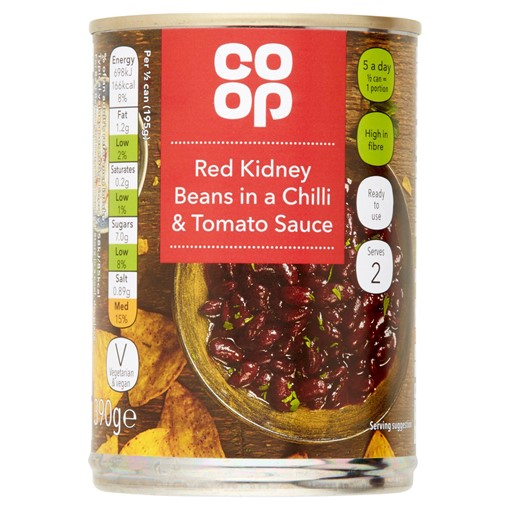 Picture of Co Op Red Kidney Beans in a Chilli & Tomato Sauce 390g