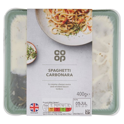 Picture of Co-op Italian Menu Spaghetti Carbonara 400g