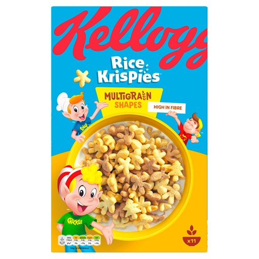 Picture of Kellogg's Rice Krispies Multi-Grain Shapes Cereal 350g