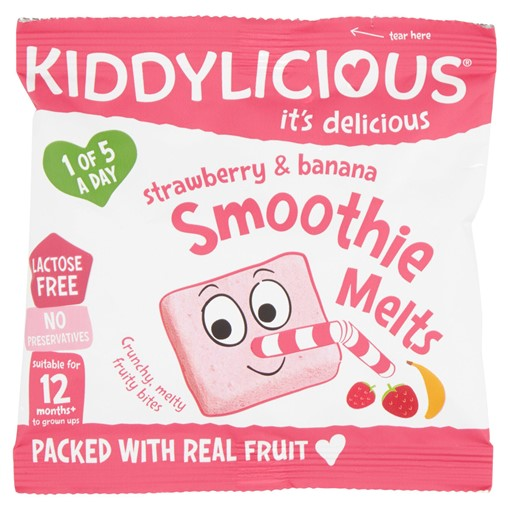 Picture of Kiddylicious Strawberry & Banana Smoothie Melts 6g