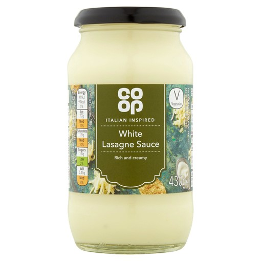 Picture of Co-op Italian Inspired White Lasagne Sauce 430g