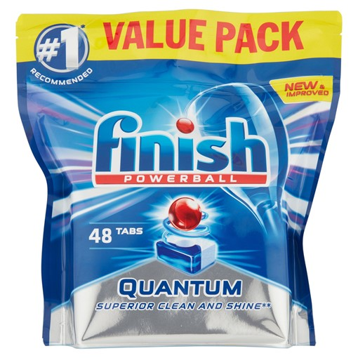 Picture of Finish Powerball Quantum Ultimate Lemon Sparkle 50 Tablets 625g