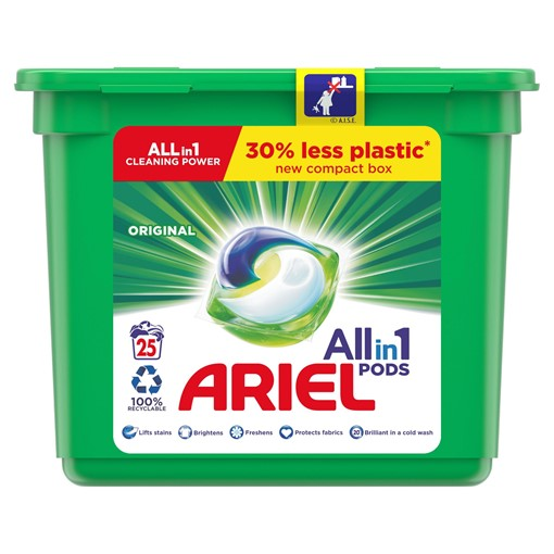 Picture of Ariel 3in1 Pods Original Washing Liquid Capsules 27 Washes