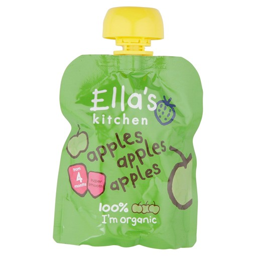 Picture of Ella's Kitchen Organic Apples, Apples, Apples Pouch 4+ Months 70g