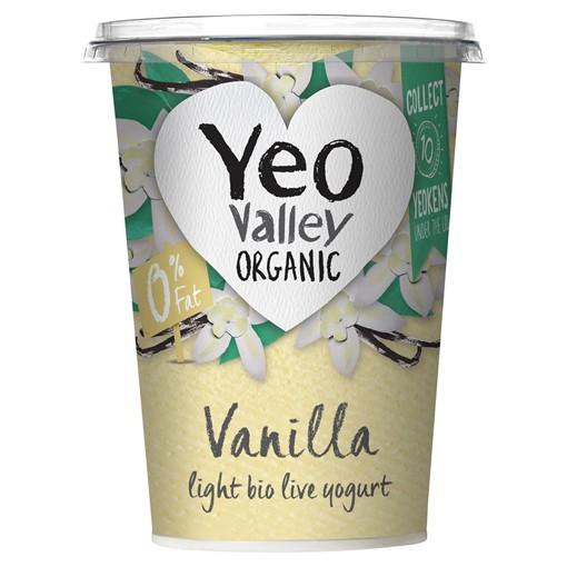 Picture of Yeo Valley Organic Vanilla Light Bio Live Yogurt 450g