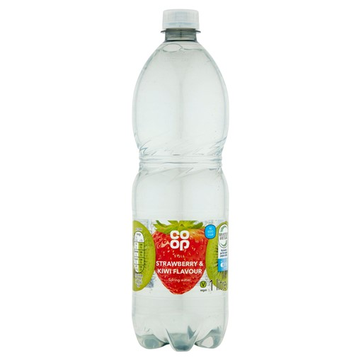 Picture of Co-op Still Strawberry and Kiwi Flavoured Spring Water 1 Litre
