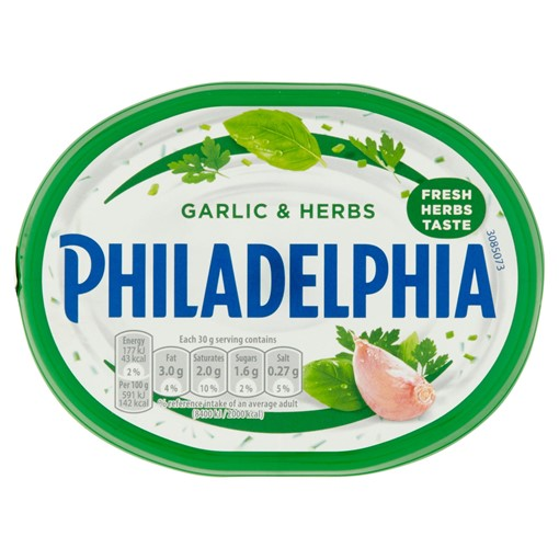 Picture of Philadelphia Garlic & Herbs Soft Cheese 170g