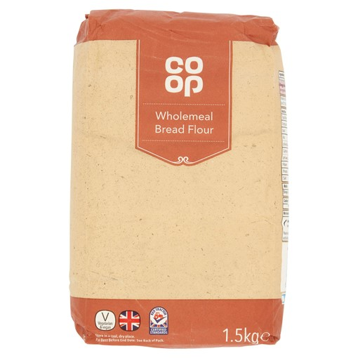 Picture of Co-op Wholemeal Bread Flour 1.5kg