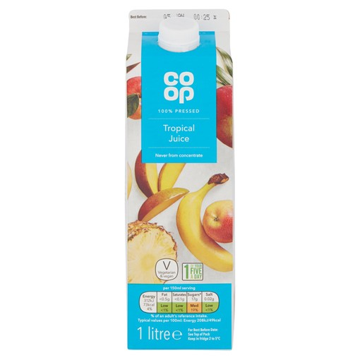 Picture of Co Op 100% Pressed Tropical Juice 1 Litre