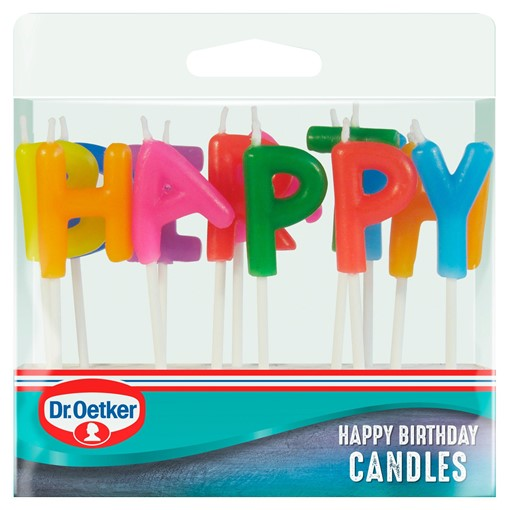 Picture of Dr. Oetker Happy Birthday Candles