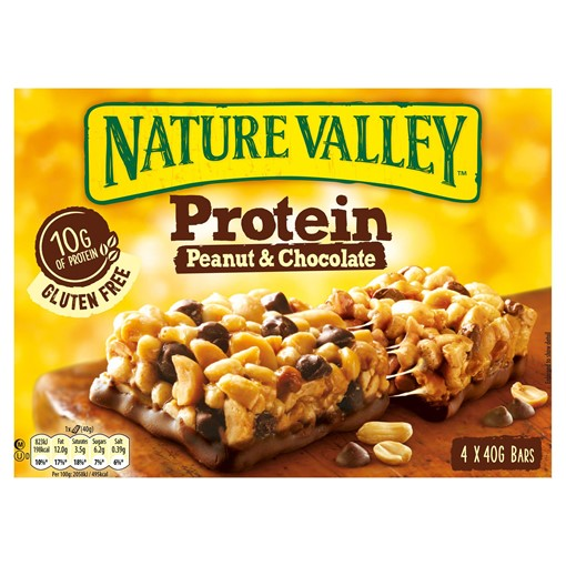 Picture of Nature Valley Protein Peanut & Chocolate Cereal Bars 4 x 40g