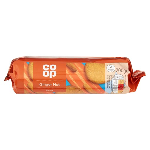 Picture of Co Op Ginger Nut Biscuits 200g