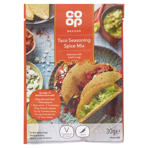 Picture of Co-op Mexican Taco Seasoning Spice Mix 30g