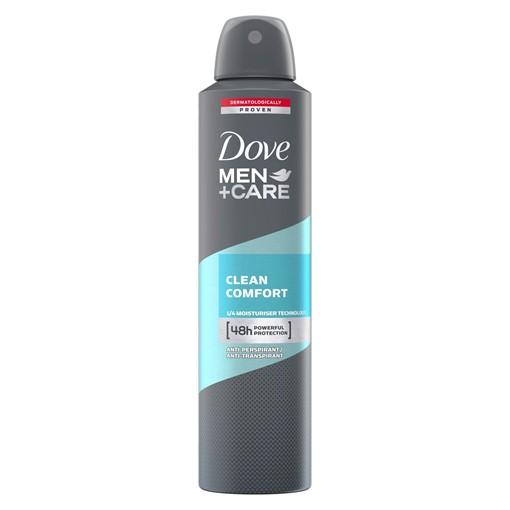 Picture of Dove Clean Comfort Aerosol Antiperspirant Deodorant 250 ml