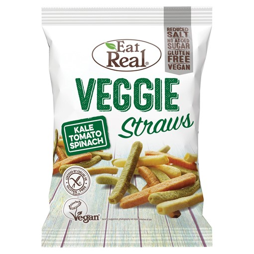 Picture of Eat Real Veggie Straws Kale Tomato Spinach 22g