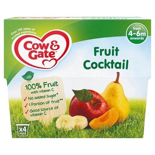 Picture of Cow & Gate Fruit Cocktail Fruit Puree Pots 4 x 100g