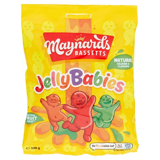 Picture of Maynards Bassetts Jelly Babies Sweets Bag 190g