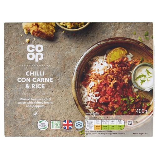 Picture of Co-op Classic Menu Chilli Con Carne & Rice 400g